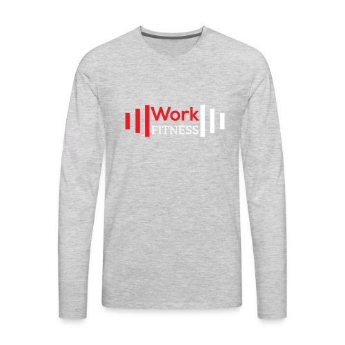 Work Fitness Long Sleeve Tee Men's Heather Gray - Men's Premium Long Sleeve T-Shirt