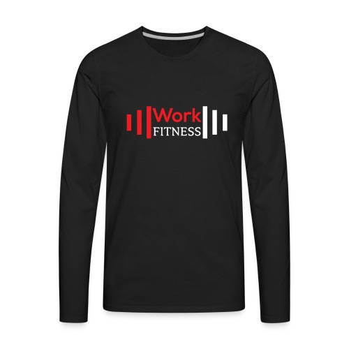 Work Fitness Long Sleeve Tee Men's Black - Men's Premium Long Sleeve T-Shirt