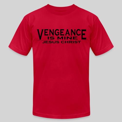 Men's Fine Jersey T-Shirt - Vengeance Belongs to the Lord.