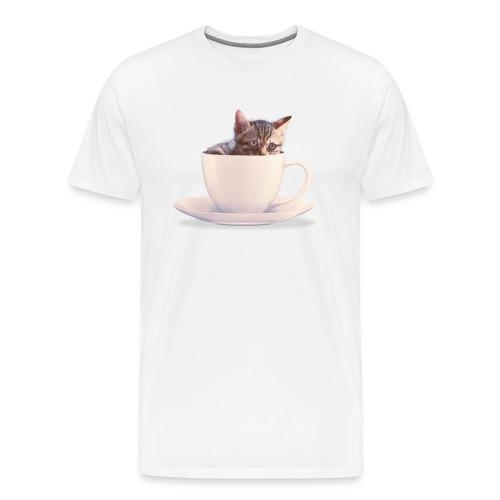 Cats in Cup - Men's Premium T-Shirt