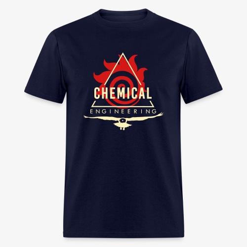 Cream on Navy T-Shirt - Men's T-Shirt
