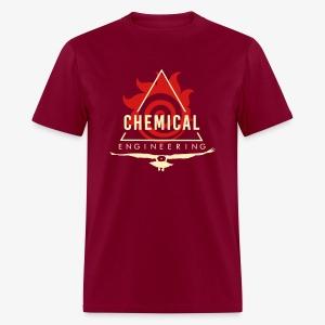 Cream on Maroon T-Shirt - Men's T-Shirt