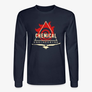 Cream on Navy Longsleeve - Men's Long Sleeve T-Shirt