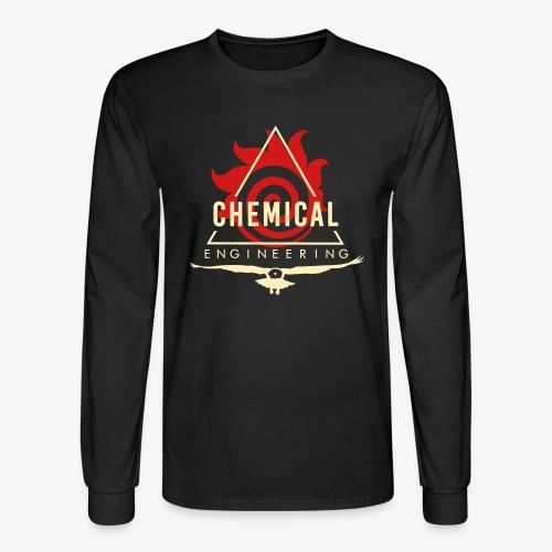 Cream on Black Longsleeve - Men's Long Sleeve T-Shirt