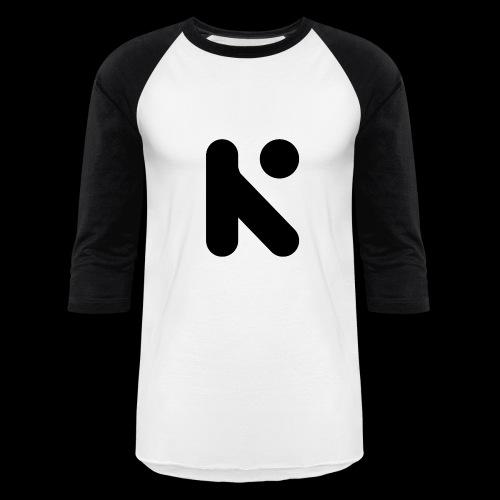 Black K Baseball Tee - Baseball T-Shirt