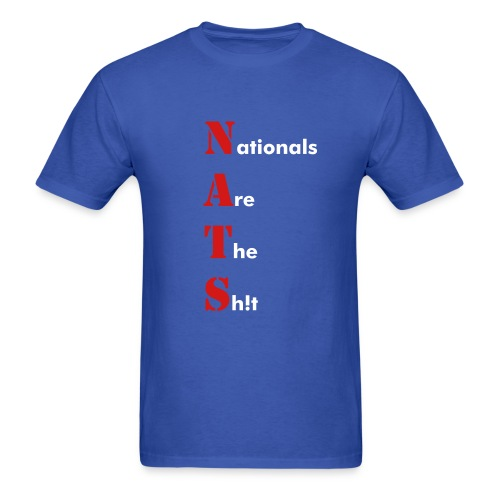 Washington Nationals NATS Blue T Shirt - Men's T-Shirt