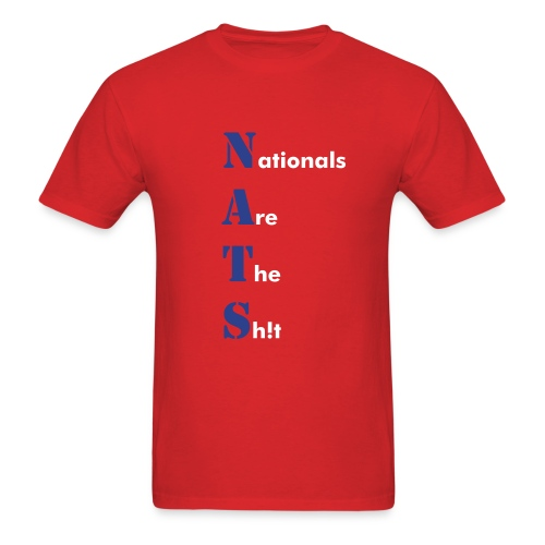 Washington Nationals NATS Red T Shirt - Men's T-Shirt