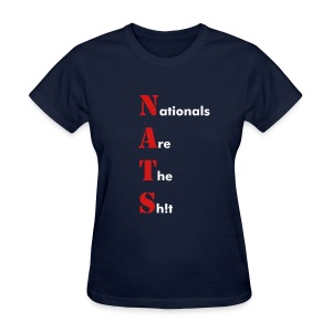 Washington Nationals Women's NATS Blue T Shirt - Women's T-Shirt