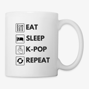 Hello Asia! Eat Sleep Kpop Coffee Mug - Coffee/Tea Mug