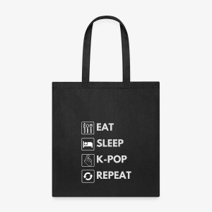 Hello Asia! Eat Sleep Kpop Tote - Tote Bag