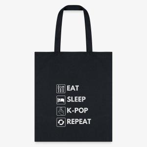 Hello Asia! Eat Sleep Kpop Tote - Tote Bag