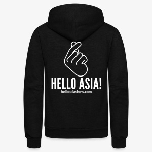 Hello Asia! Official Hoodie - Unisex Fleece Zip Hoodie by American Apparel