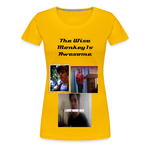 The Wise Monkey Is Awesome Womans T-Shirt - Women's Premium T-Shirt