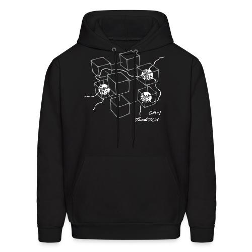 CM-1 men's hoodie black grey/white - Men's Hoodie
