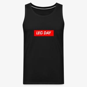 Leg Day Box Logo Tank - Men's Premium Tank