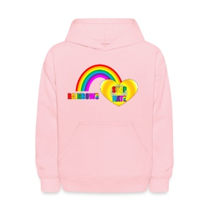 Childrens Rainbow Love Hoodie - a part of the profits will go to the SPLC thru the end of 2018 - Kids' Hoodie