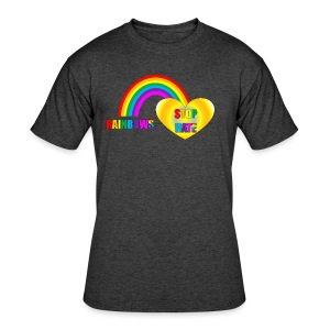 STOP HATE Rainbow Love Tee for All Humans - child sizes - a part of the profits will go to the SPLC thru the end of 2018 - Men's 50/50 T-Shirt