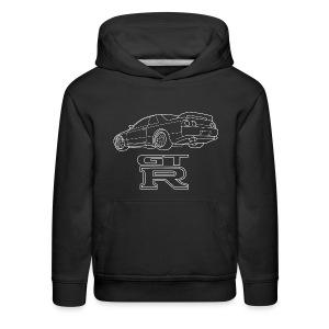 R32 GTR Rear Quarter - Kids' Premium Hoodie