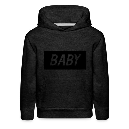 Official BabyDonut Kids' hoodie (Grey) - Kids' Premium Hoodie