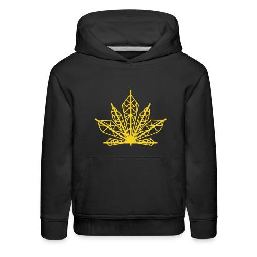 Cannabis Diamond leaf hoodie - Kids' Premium Hoodie