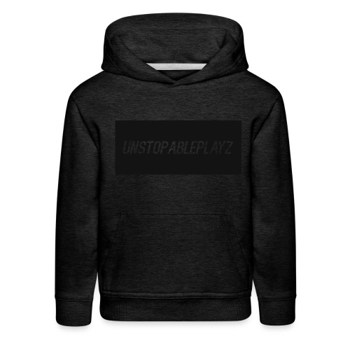 Kids UnstopablePlayz sweat shirt (grey) - Kids' Premium Hoodie