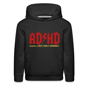 ADHD Highway to LOOK A SQUIRREL! Boys Hoodie - Kids' Premium Hoodie