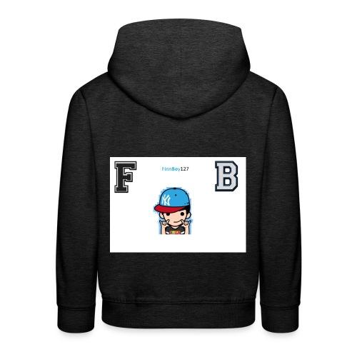 FB logo white - Kids' Premium Hoodie
