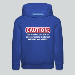 Awesome and Badass - Kids' Premium Hoodie
