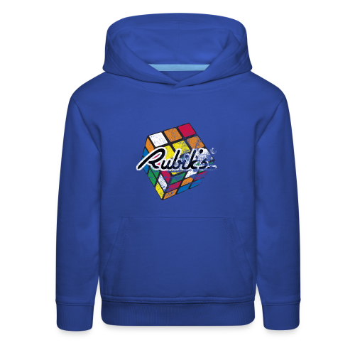 Rubik's Cube Distressed and Faded - Kids' Premium Hoodie