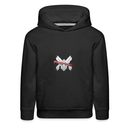 Prefixel Red Logo Black Hoodie - Kids' Premium Hoodie