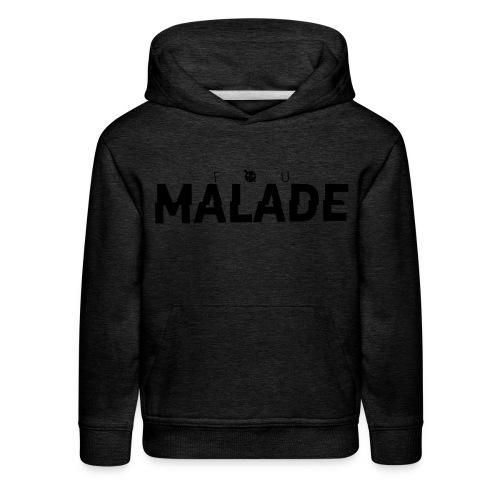 Sweatshirt Enfant Fou Malade (logo noir) - Molleton à capuche Premium pour enfant