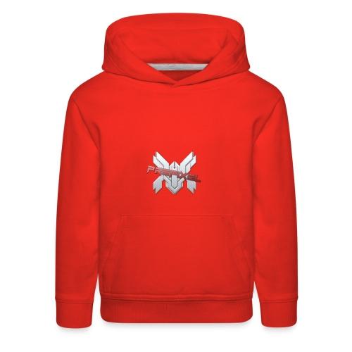 Prefixel Red Logo Pink Hoodie - Kids' Premium Hoodie