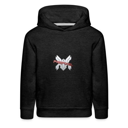 Prefixel Red Logo Gray Hoodie - Kids' Premium Hoodie
