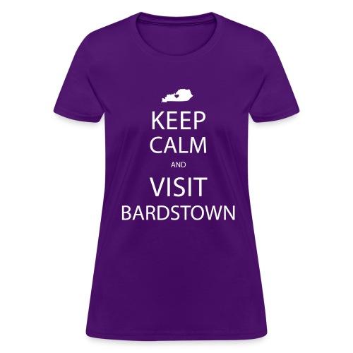 Keep Calm and Visit Bardstown - Women's Purple - Women's T-Shirt