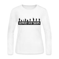 Long Sleeve Shirts ~ Women's Long Sleeve Jersey T-Shirt ~ Support Our Troops