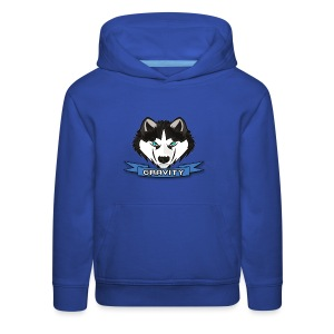 GravityYT Logo for kids in all sizes -Royal Blue - Kids' Premium Hoodie