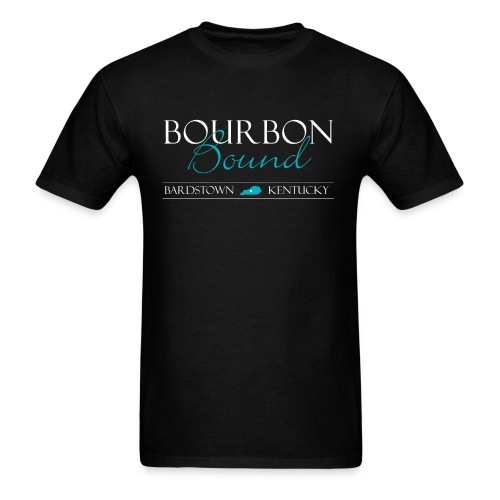 Bourbon Bound - Mens Royal Black - Men's T-Shirt