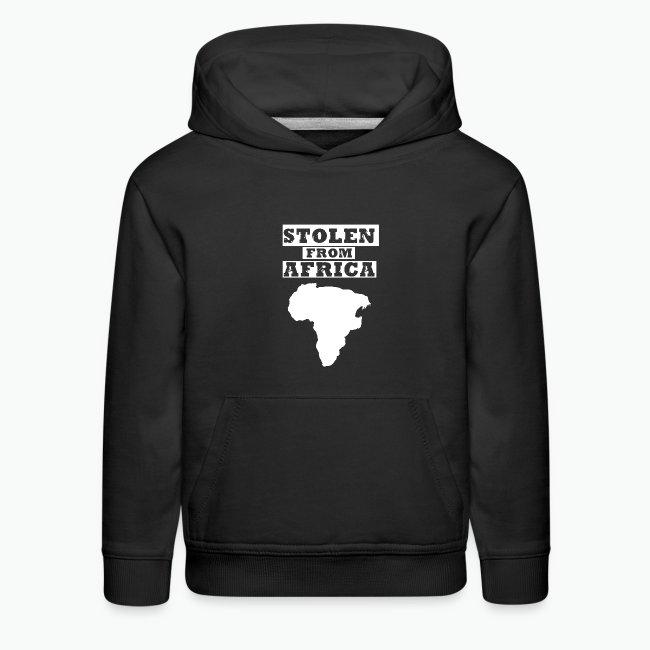 Stolen From Africa Kids Hoodie (White Logo)