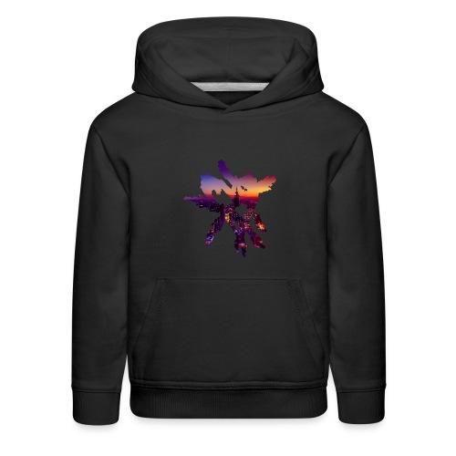 Heart Sweater [City Night] Kids - Kids' Premium Hoodie