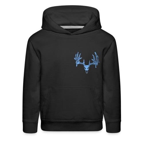 Deer skull blue - Kids' Premium Hoodie
