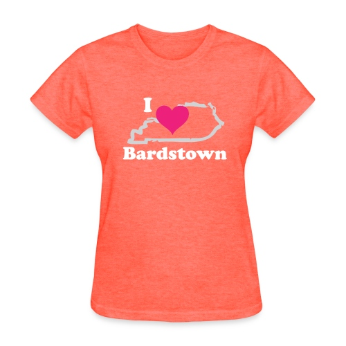 I Heart Bardstown - Womens Gray - Women's T-Shirt