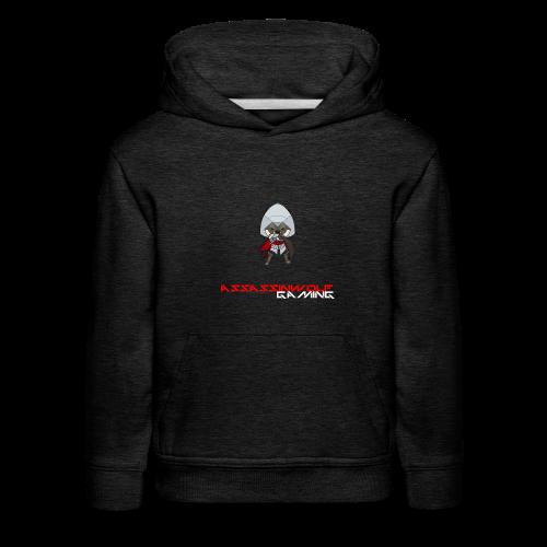heather grey assassinwolf hoodie - Kids' Premium Hoodie