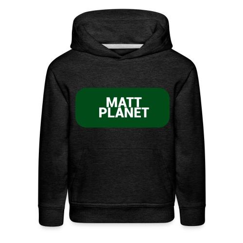 Matt Planet Kid's Premium Hoodie - Gray - Kids' Premium Hoodie