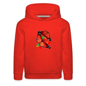 TWO BIG BRIGHT ORANGE BUTTERFLIES - Kids' Premium Hoodie