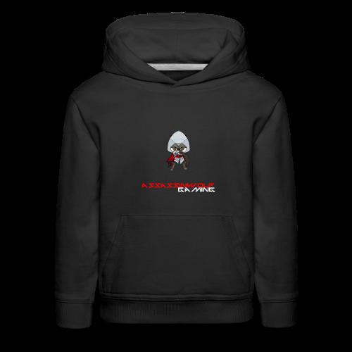 black assassinwolf hoodie - Kids' Premium Hoodie