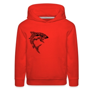 Tribal Shark Kid's Premium Hoodie from South Seas Tees - Kids' Premium Hoodie