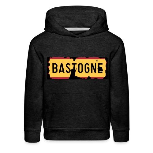 Kids Hoodie Bastogne Road Sign - Kids' Premium Hoodie