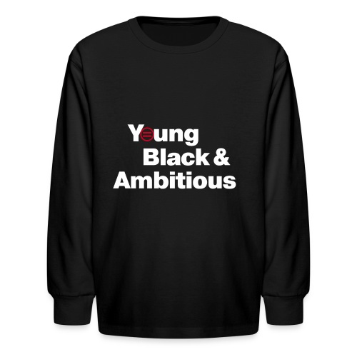 Kid's Premium YBA Long Sleeved TShirt - Black - Kids' Long Sleeve T-Shirt