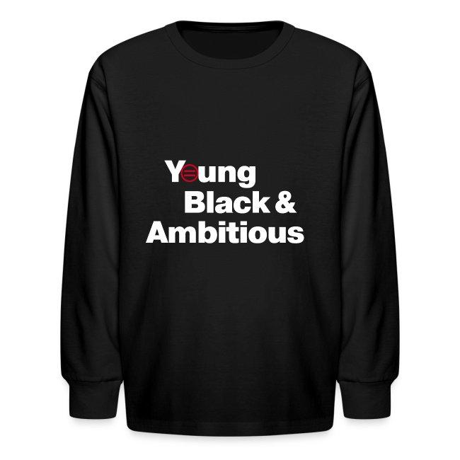 Kid's Premium YBA Long Sleeved TShirt - Black