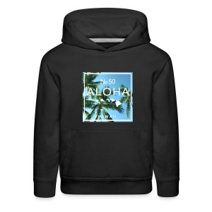 Aloha Hawaii Swaying Palm Tree Hoodie - Kids' Premium Hoodie